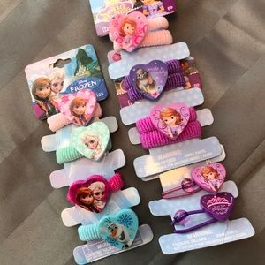 Frozen and Sofia the First Hair Ties for Ponytail